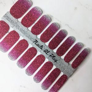 5 for $20 Nail Wraps- Raspberry Kisses